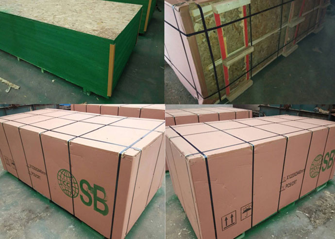High quality osb with melamine paper siding particle board
